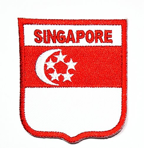 Singapore National Costume (HHO Singapore Country Flag Patch National flag Patch Embroidered DIY Patches, Applique Sew Iron on for everyone Craft Patch for Bags Jackets Jeans Clothes Patch Jacket T-shirt Sew Iron on Costume)