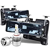 97 chevy hid headlight kit - Chevy / GMC C/K Series GMT400 Pair of 2Pc Smoked Lens Headlights + 9006 LED Conversion Kit W/ Fan