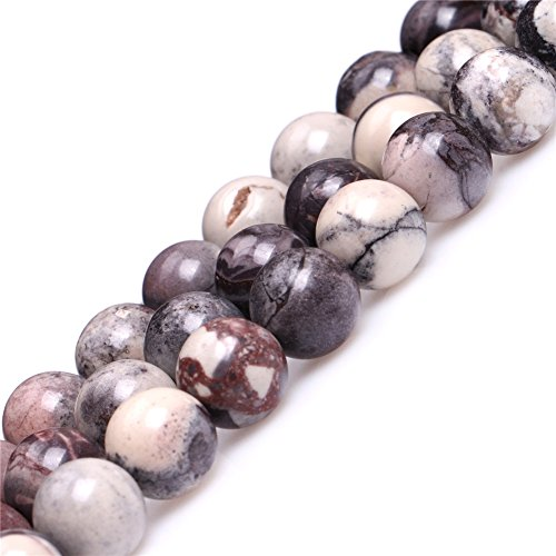 JOE FOREMAN 10mm Brown Porcelain Jasper Semi Precious Gemstone Round Loose Beads for Jewelry Making DIY Handmade Craft Supplies 15