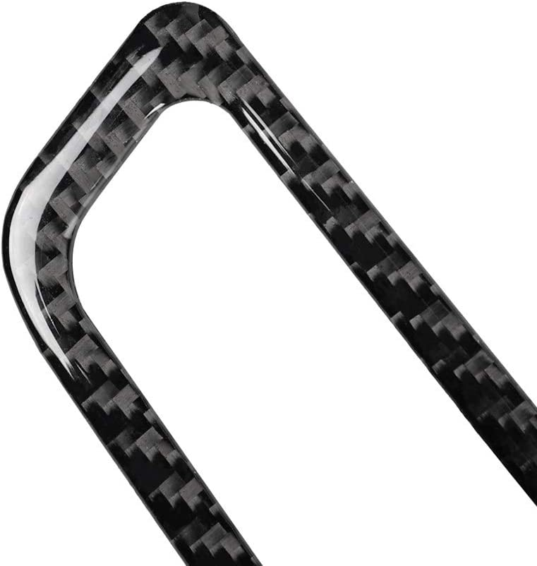 ZHCOM Innen Auto Lenkrad Cobra Shelby Pferd Logo Emblem Carbon Faser Aufkleber Auto Styling F/ür Ford Mustang 2015 2016 2017,Black