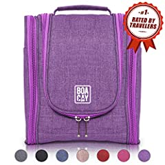 BOACAY's Hanging Toiletry & Makeup Bag will help you quickly organize all your travel products and take away the pre-departure exhausting stress. Created by a team of visionary travelers for the needs of all the energetic men & women ...