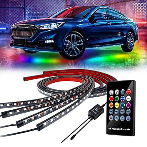 LEDUR Car Underglow Lights Underbody Neon Lights with Wireless Remote