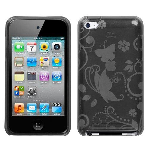 Premium TPU Flexi Argyle Gel Skin for Apple iPhone4, 4th Generation, 4th Gen Flexible See Thru Skin, Smoke Checkers Plaid -