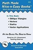Oblique Triangles, Vectors, Statics, Vector Applications, The Editors of REA, 0878912053