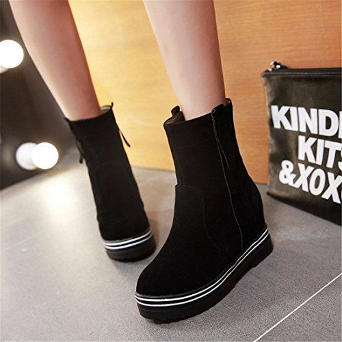 size ladies winter Warm Terry boots boots boots thick bottom Martin Black WE0ppqwZnR