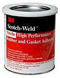 3M 22570-case Nitrile High Performance Rubber And Gasket Adhesive 847H, Brown, 5 gal, pail
