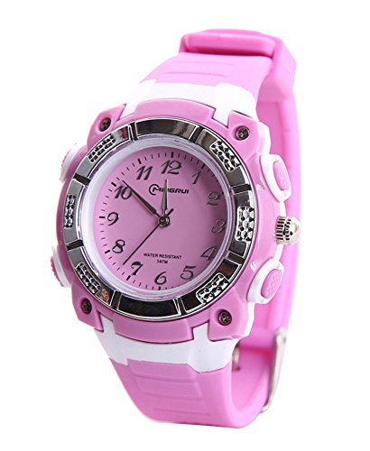 Price comparison product image Cheamlion Kids Girls Students Purple Quartz Analog Waterproof Watch