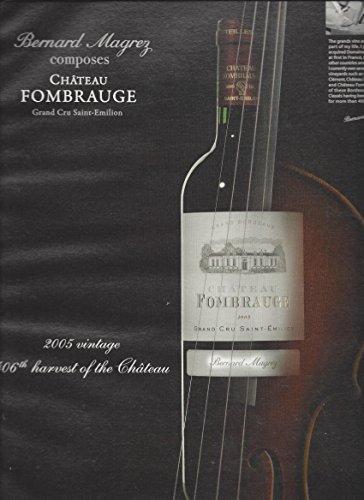 MAGAZINE AD For 2005 Chateau Fombraugh Wine Grand Cru Saint Emilion (Saint Emilion Grand)