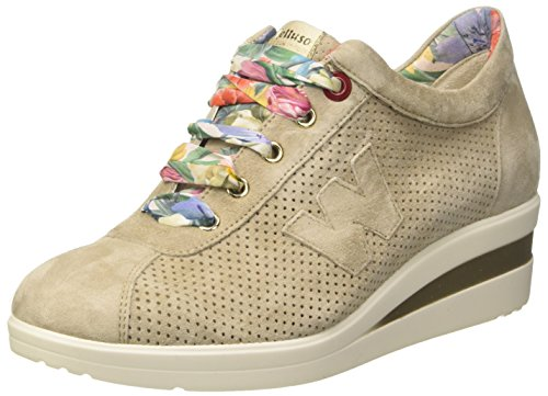 Melluso Baskets Femme Damen À Pied Beige (accord)