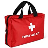 Jogboy First Aid Kit 108 Piece丨Add Ice Pack, Antipyretic Paste, First Aid Guide | for Home,Outdoors,Travel,Camping,Hiking with Emergency Survival