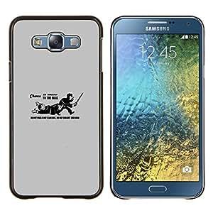 Qstar Arte & diseño plástico duro Fundas Cover Cubre Hard Case Cover para Samsung Galaxy E7 E700 (No pase Landing Funn Cita del Rey)