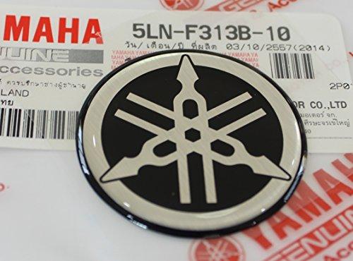 Yamaha 5Ln F313b 10   Genuine 40Mm Diameter Yamaha Tuning Fork Decal Sticker Emblem Logo Black   Silver Raised Domed Gel Resin Self Adhesive Motorcycle   Jet Ski   Atv   Snowmobile