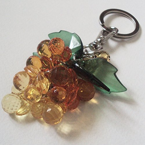 Agility Luxury Acrylic Glass Lucky Yellow Grape Key Chain, Key Ring