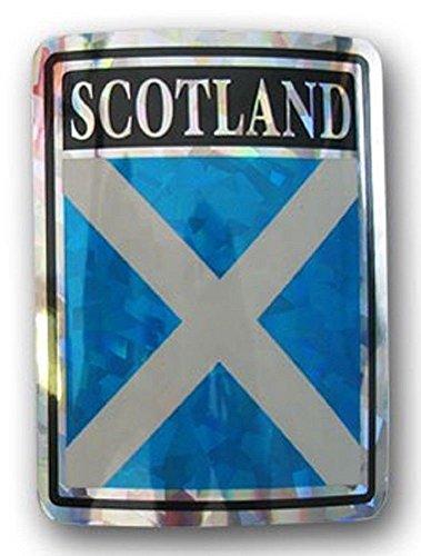 (K's Novelties Scotland Cross St. Andrews Country Flag Reflective Decal Bumper Sticker)