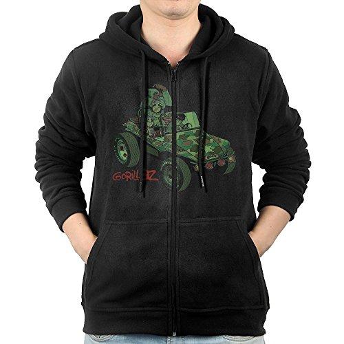 Gorillaz Gorillaz Men Full-Zip Hooded Sweatshirt Kangaroo Pocket