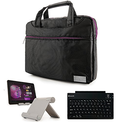 Price comparison product image Nylon Lightweight Messenger Bag For Asus VivoTab Tablets & Laptops (M81C,  M80TA,  RT,  Smart) + Bluetooth Keyboard + Foldable Stand