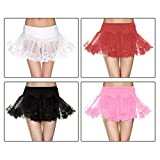 GSG Net Double Layer Lace Trim Petticoat Costume Accessory Womens Halloween