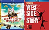 West Bang Musicals Chitty Chitty Bang Bang Blu Ray + DVD The West Side Story Set Movie Double Feature Bundle