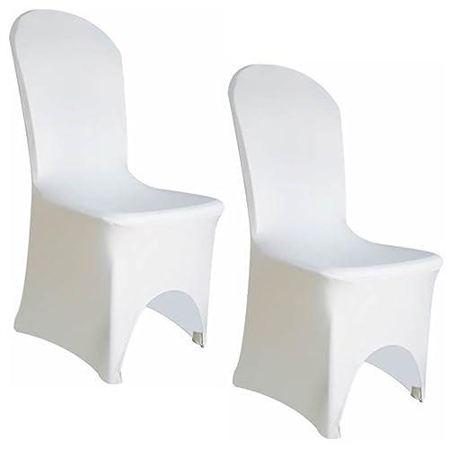100 Spandex Lycra Wedding Chair Covers White Amazon Co Uk