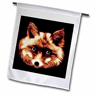 SmudgeArt Wildlife Designs - FOX - SEPIA - 12 x 18 inch Garden Flag (fl_8362_1)