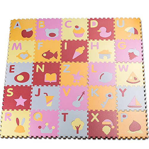 HemingWeigh-Kids-Multicolored-Alphabet-Shapes-Puzzle-Play-Mat