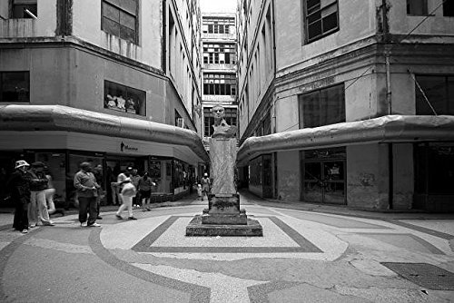 24 x 36 B&W Giclee Print Shopping mall in Old Havana, Cuba 2010 Highsmith 03a
