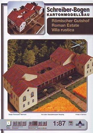 Aue Verlag Schreiber-Bogen Card Modelling Roman Estate Villa Rustica: Amazon.es: Juguetes y juegos