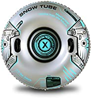 XFlated Snow Tube, Heavy Duty Inflatable Snow Tube Sled for Kids and Adults, Giant Snow Toys for Winter Sport