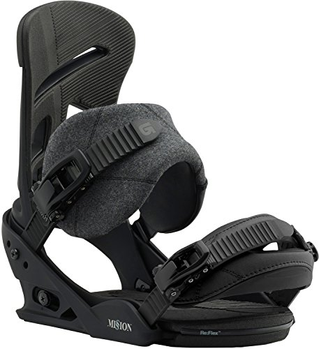 Burton Mission Snowboard Bindings Mens Sz L (Black Freestyle Snowboard Binding)