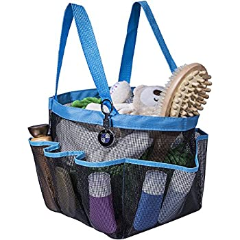 Attmu Portable Shower Caddy With 8 Mesh Storage Pockets, Quick Dry Shower  Tote Bag Oxford