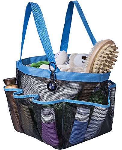 Shower Caddy Portable Bathroom Hanging Mesh Bag Storage Bag - 1