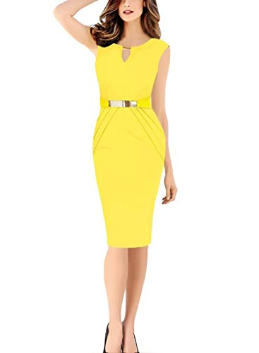 MisShow Womens Wear to Work Gowns Bodycon Business Dress Formal