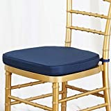 Tableclothsfactory Navy Blue Chiavari Chair Cushion for Wood Resin Chiavari Chairs Party Event Decoration - 2'' Thick-Pack of 5