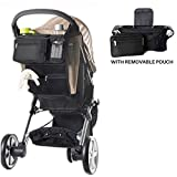 Stroller Organizer by The Hamptons Baby for Smart Moms, Premium Deep Cup Holders, Large Storage Capacity Storage for Drinks, Phones, Wallets, Snacks, Toys, Napkins and More!
