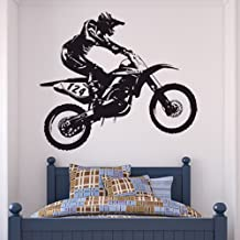 Dirt Bike Wall Stickers Bike Wall Decal Art available in 5 Sizes and 25 Colours X-Large Black