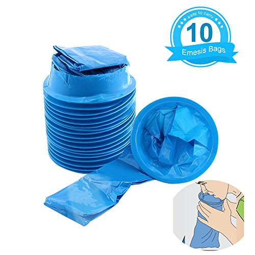 Fomei Top Quality 10 Packs Blue Emesis Bags Shipping By FBA