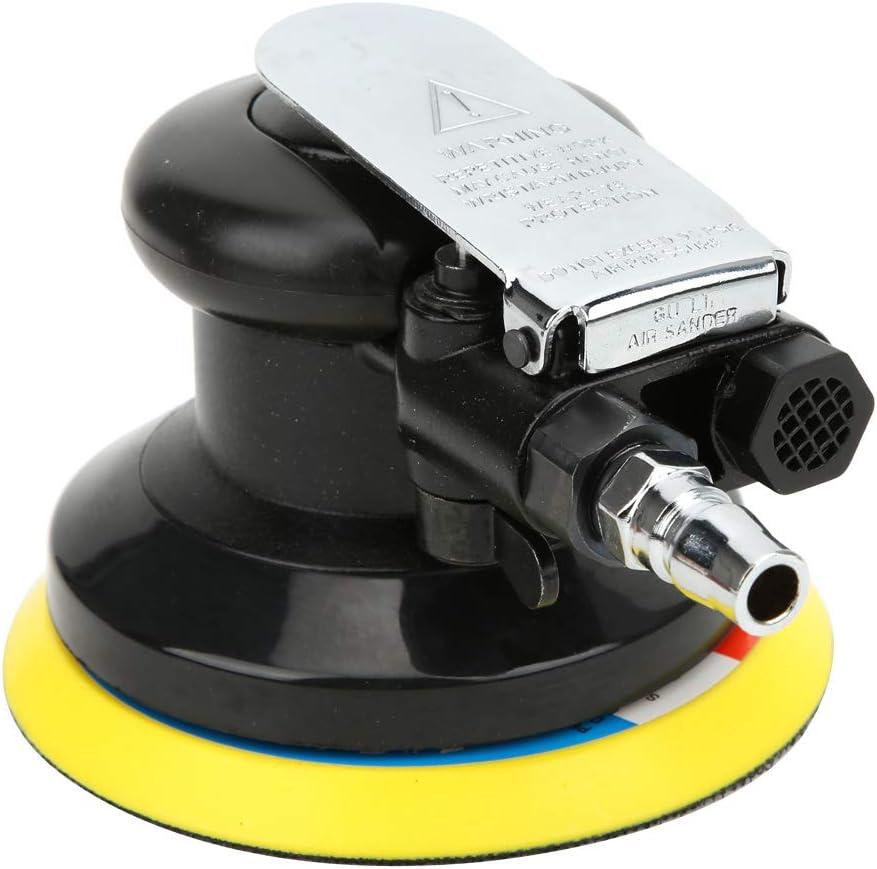 Interface Am/éRicaine Ponceuse Pneumatique Orbitale Machine /à Cirer de Polissage de Voiture 10000 Tr//Min Avec Papiers de Verre De Grain 180 Ponceuse Pneumatique en Alliage de 5 Pouces