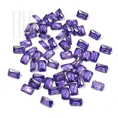 Be You Bleu d'Encre Couleur Zircone Cubique AAA Qualité 5x7 mm Princesse Coupe Octogone Forme 100 pcs gemme