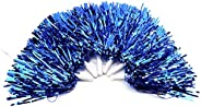 Cheerleading Poms, PET Cheerleading Pom Poms with Handle for Cheering Sports(Blue)