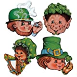 Kitchen & Housewares : Beistle 33871 4-Pack St. Patrick Cutouts, 12-Inch