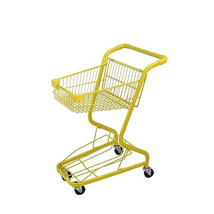 Carro de la Compra del supermercado del Marco metálico, Ruedas del eslabón Giratorio 360 °