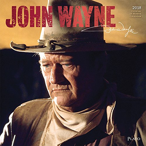 John Wayne 2018 12 x 12 Inch Monthly Square Wall Calendar with Foil Stamped Cover by Plato, USA American Actor Celebrity Country
