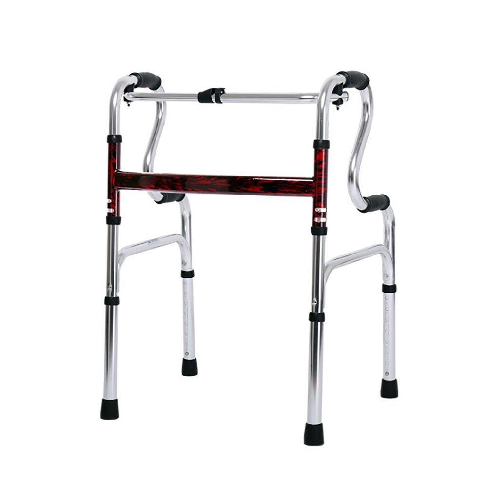 KOSHSH Standardwalker Für Älteren Gehrahmen Gehenden Rahmen Vier Wanderer Aluminiumwalker Gehwagen
