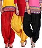 New Z Spark Women's Cotton Patiala Salwar (Free Size, Multi Color, Pack Of 3)