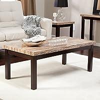 Carmine Faux Marble Coffee Table