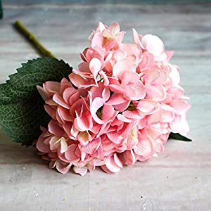 GSD2FF 1 Branch Artificial Flowers Wedding Party Home Decor Hydrangea Bouquet Plants Dried Flowers Single Silk Cloth,Pink 7