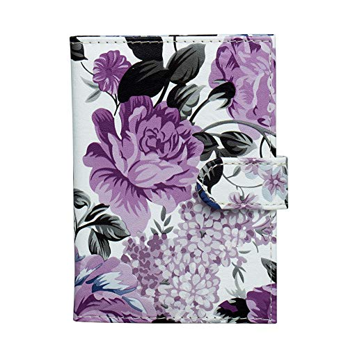 ZONGSHU Floral Passport Holder Cover Wallet, Peony Flower Patten Travel Luggage...