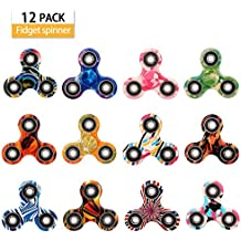 SCIONE Fidget Spinner 12 Pack ADHD Stress Relief Anxiety Toys Best Autism Fidgets Spinners Adults Children Finger Toy Bearing Focus Fidgeting Restless Colorful Hand Spin Party Favor by
