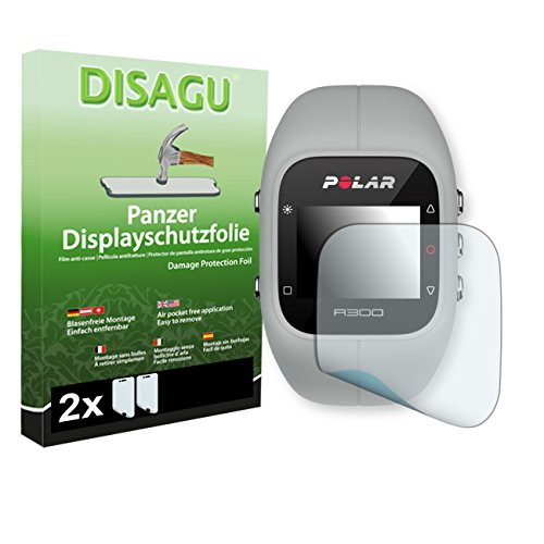DISAGU 2 x Armor Screen Protector for Polar A300 Screen Fracture Protection Film