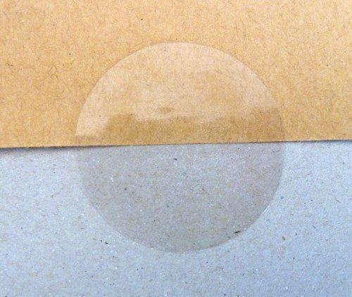Minilabel 38 mm, chiusura lucida adesivi, trasparente (confezione da 60 pz Minilabel Ltd 38mmpermclearseals